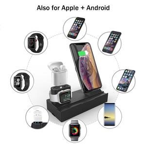 Image 5 - Drahtlose Ladegerät Stehen für iPhone AirPods Apple Uhr, ladung Dock Station Ladegerät für Apple Uhr Serie 4/3/2/1 iPhone X 8 XS