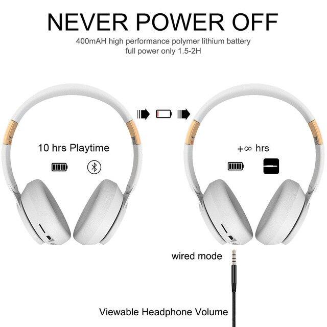 T7 Bluetooth Headphones Foldable Stereo Adjustable Earphones With Mic 3