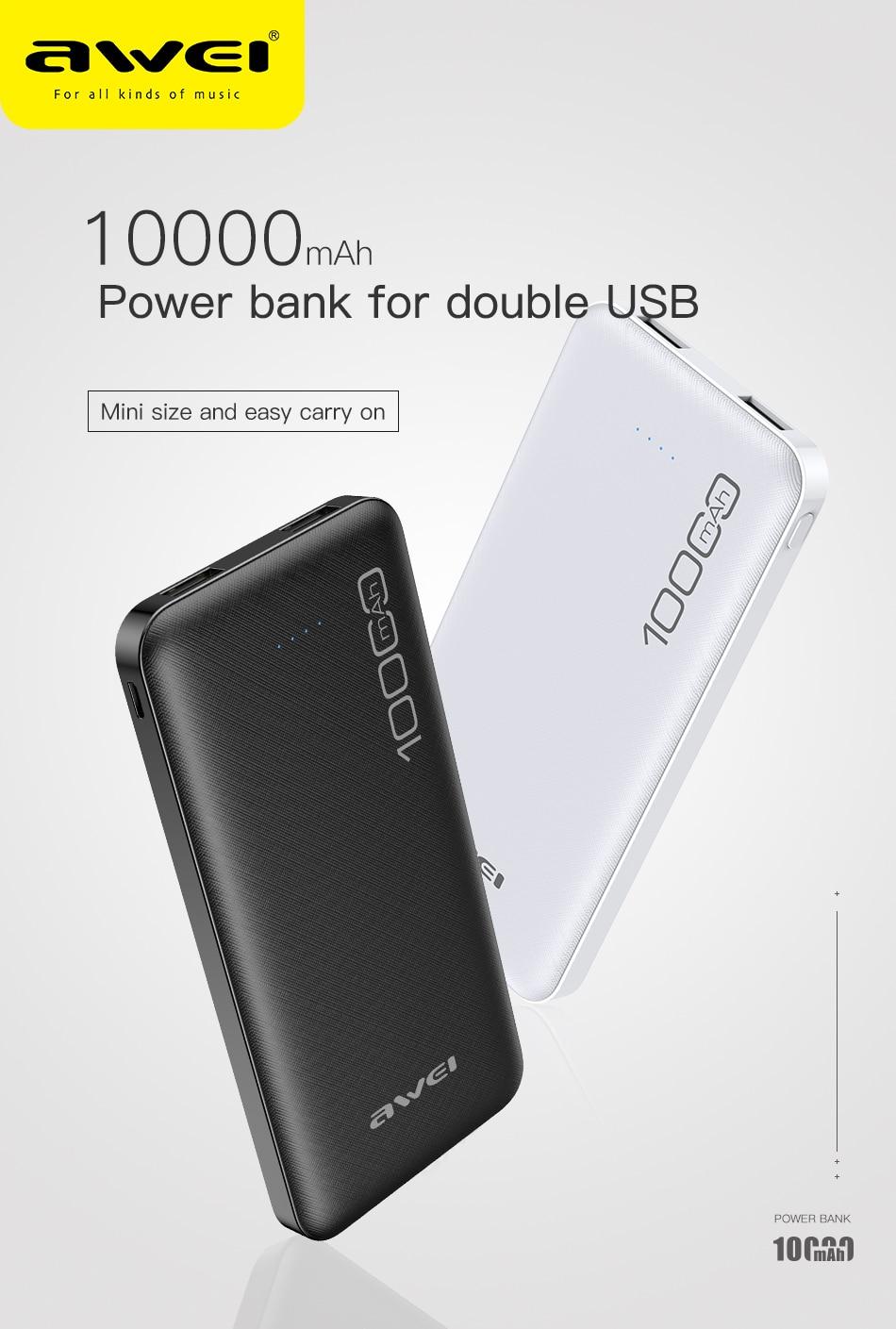 Ip28k poverbank 10000mah carregador portátil de carregamento