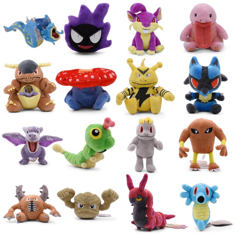 takara-tomy-plush-doll-font-b-pokemon-b-font-gyarados-rattata-scolipede-machop-gastly-kangaskhan-lucario-stuffed-peluche-toy-christmas-gifts
