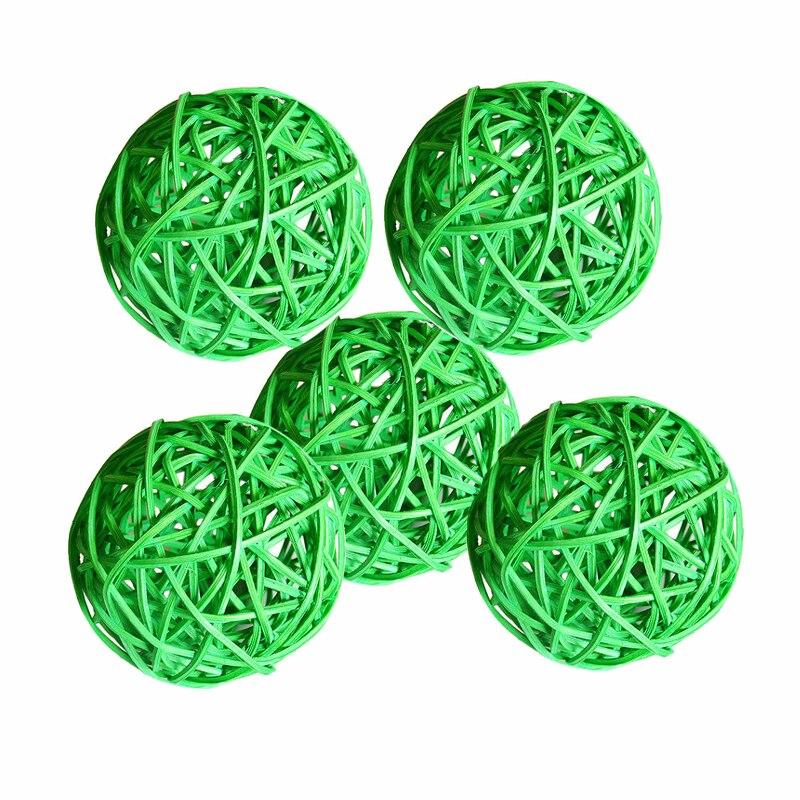 Ротанговые плетеные тростниковые шары диаметром 5 см для сада патио, свадебные, вечерние украшения, DIY для тайского стиля гирлянды - Цвет корпуса: light green