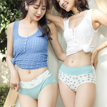 Underpants Girls Intimates Cotton Briefs Seamless Cute Thong Female High-Waist 2pcs/Lot
