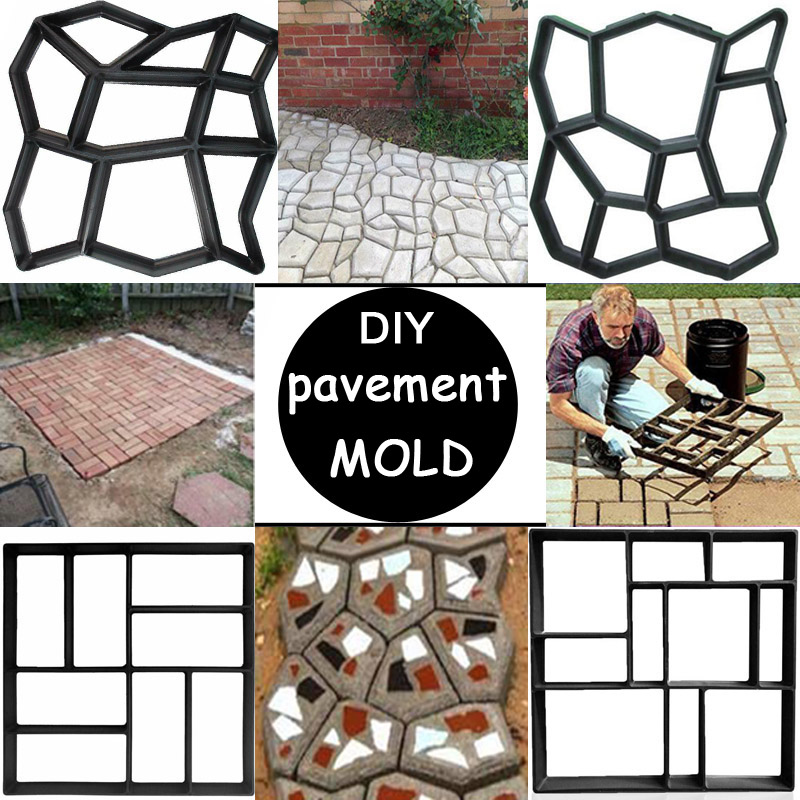 Reusable DIY Manually Pavement Mold For Garden Cement Brick Stone Road Path Maker Gardening Concrete Molds For Country House