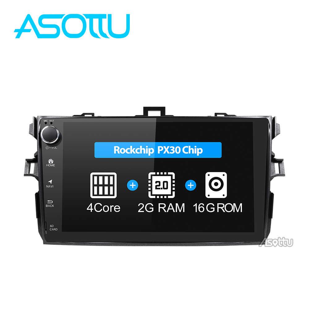 Asottu CLKLL9060 PX30 الروبوت 9.0 مشغل أسطوانات للسيارة gps والملاحة لتويوتا كورولا 2007 2008 2009 2010 2011 مشغل أسطوانات للسيارة راديو gps ستيريو