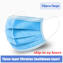 10pcs 50 100pcs mask disposable face Mouth Mask Dust proof Three layer Non woven Melt Blown
