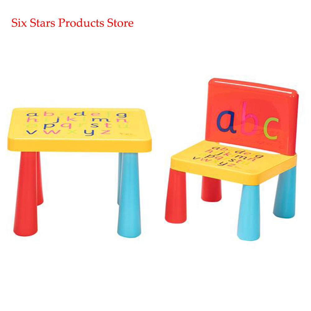 Plastic Table And Chair For Children One Table And One Chair Reduced Version Mushroom Leg [40 X 35 X 30]