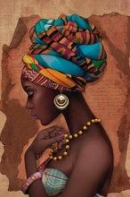 Картина маслом на холсте в африканском стиле для женщин постеры