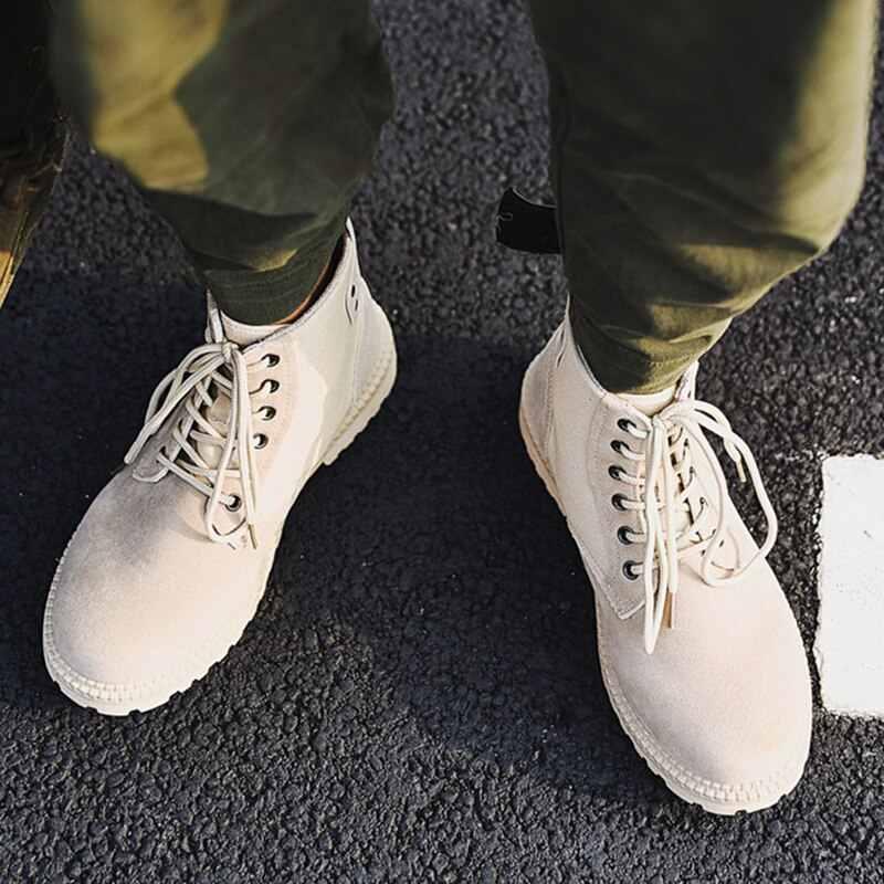 Style britannique chaussures pour hommes fil à coudre Chelsea bottes pour hommes décontracté coton chaussures Brogue Chelsea bottes hommes chaussures bottines