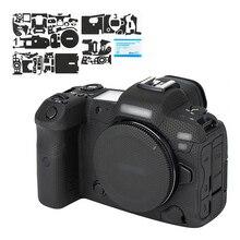 키위 카메라 바디 스티커 캐논 EOS R5 안티 슬라이드 카메라 커버 장식 매트릭스 블랙에 대한 안티 스크래치 보호 스킨 필름 키트