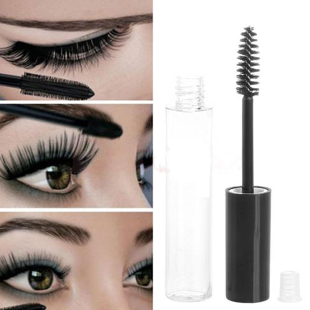 10ML Fashionable Empty Black Eyelash Tube DIY Mascara Cream Container Refillable Bottles Lipgloss Tube Cosmetics Containers image