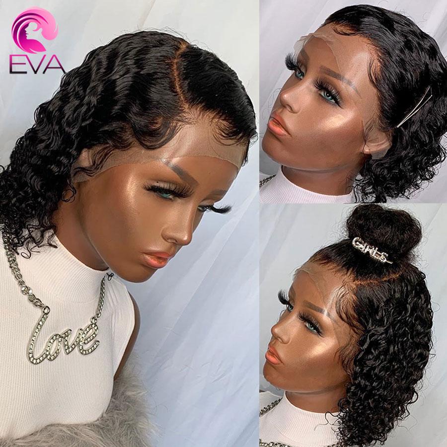 Eva Hair Short Wavy Lace Front Wig Wet And Wavy Bob Human Hair Wigs For Black Women Brazilian Curly Lace Front Human Hair Wigs Human Hair Lace Wigs Aliexpress