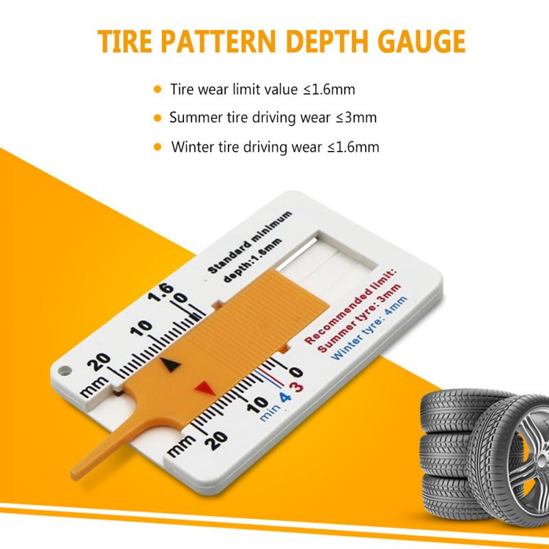 0 - 20 Mm Auto Car Tyre Tread Depth Depthometer Gauge Caliper Motorcycle Trailer Tire Wheel Measure Tool Repair Tool