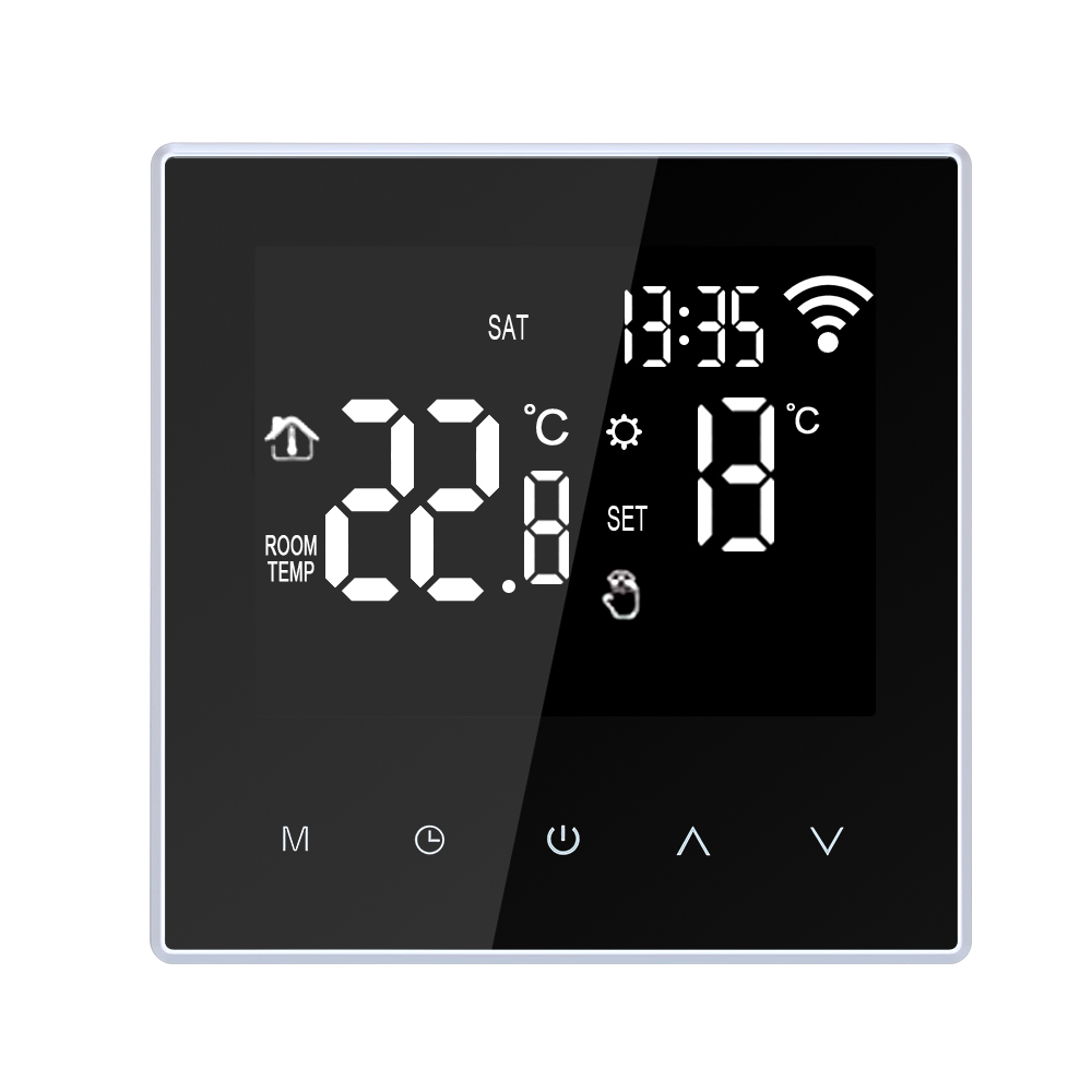 Wifi Smart Thermostat With App Control 5-95℃ Temperature Controller For Electric Floor Heating Water/Gas Boiler With Lcd Screen
