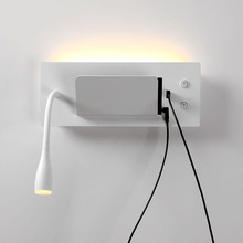 Wall lamp bedside lamp reading lamp with switch mobile phone holder rechargeable hotel bedroom room wall