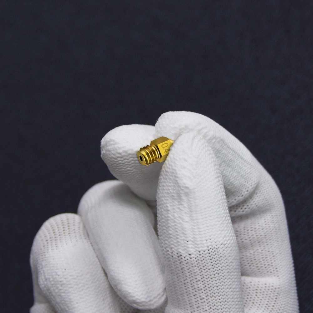 MK7 MK8 Nozzle 0.4 Mm 0.3 Mm 0.2 Mm 0.5 Mm Tembaga 3D Printer Bagian Extruder Threaded 1.75 Mm 3.0 MM Filamen Kepala Kuningan Nozel Bagian