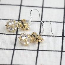New Fashion Long Pendant Bow Alloy Trendy Women Dangle Earrings Tassel Gold Super Fairy Accessories Jewelry