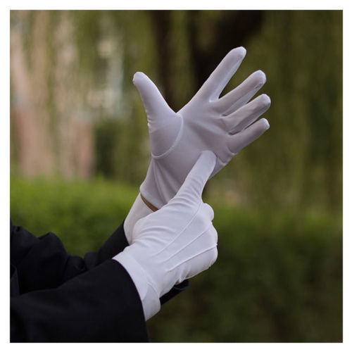 Unisex White Gloves Magician Honor Guard Hands Protector Full Finger Formal Tuxedo Etiquette Reception Parade Labor Insurancen 2