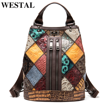 WESTAL Backpack for Women Genuine Leather