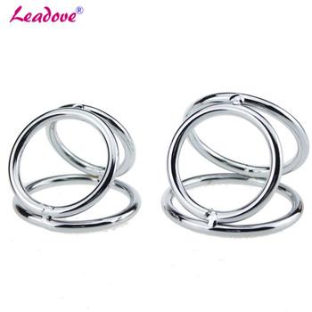 Opóźnienie Cock Ring ze stali nierdzewnej kulka stalowa nosze Penis pierścień przedłużyć Cock Ring Metal moszny erotyczne zabawki erotyczne dla mężczyzn YS0175 tanie i dobre opinie leadove CN (pochodzenie) STAINLESS STEEL