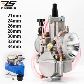 Carburador de carreras Universal ZS para Moto PWK 21 24 26 28 30 32 34 2T 4T para Keihin Koso PWK con Power Jet para 75 cc-250cc