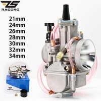ZS Racing Universal Für PWK 21 24 26 28 30 32 34 2T 4T Für Keihin Koso PWK vergaser Mit Power Jet Für 75cc-250cc Moto