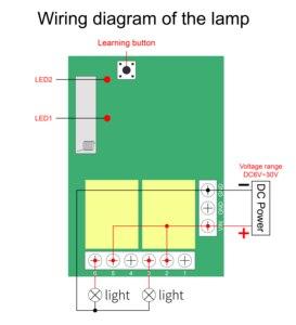 Image 4 - QACHIP 433 MHz DC6V 12V 24V 2CH รีเลย์ตัวรับสัญญาณ + Universal รีโมทคอนโทรลไร้สายสำหรับหลอดไฟ LED รถประตูไฟฟ้า