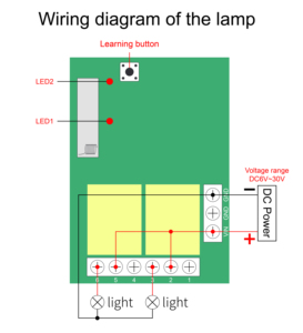 Image 5 - Qiachip 433 MHz Bộ Công Tắc Điều Khiển Từ Xa DC 5V 12V 24V Thu 86 Tường Bảng Điều Khiển 2 Nút tự Làm Phòng Ngủ Đèn Không Dây Thông Minh