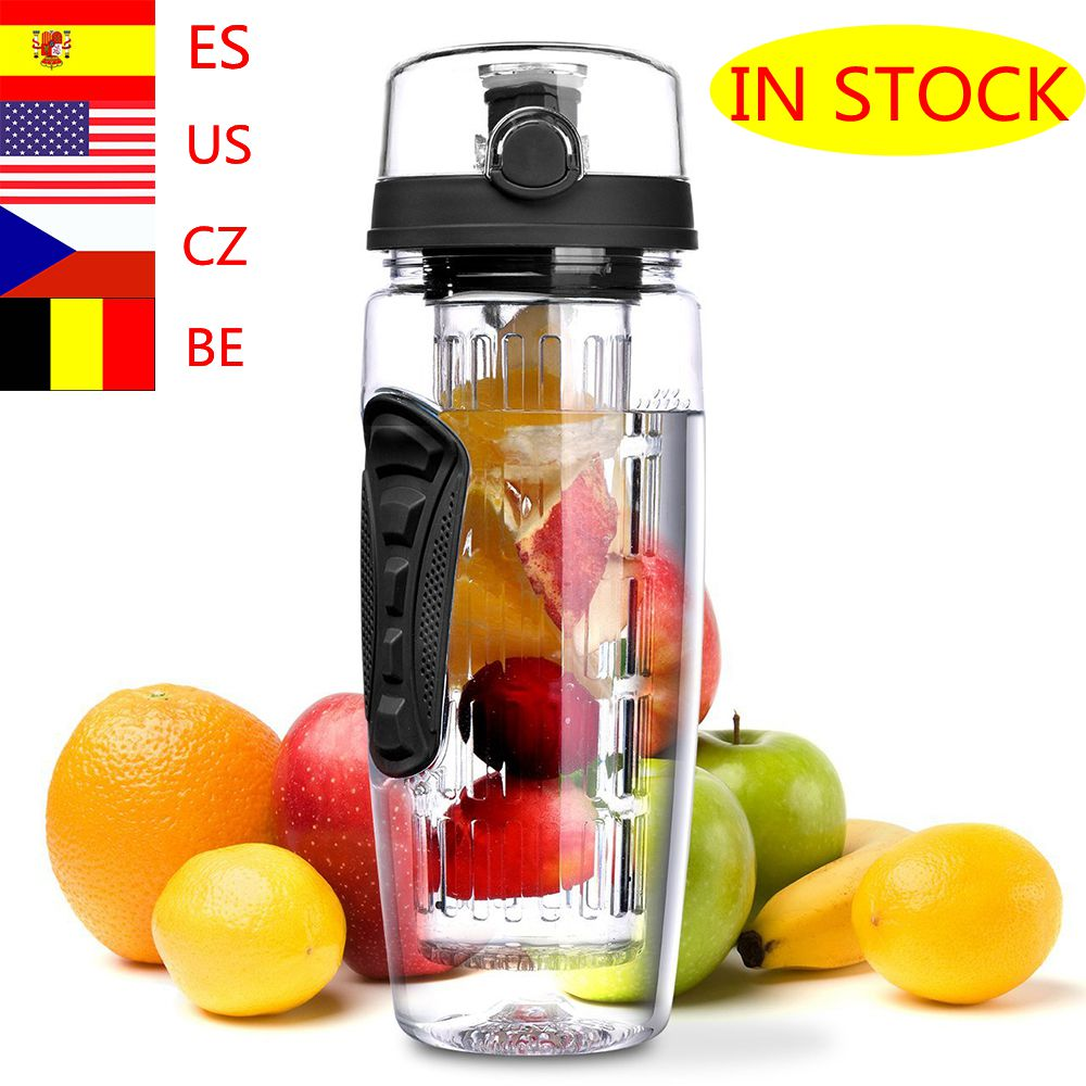 1000ml Climbing Sports Bottles Portable Tour Hiking Camping Lemon Drinkware Fruit Infuser Juice Shaker Kettle Sports Bottle|Water Bottles|   - AliExpress