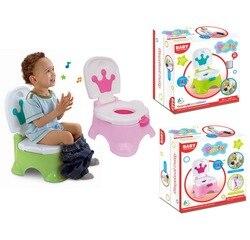 Детский музыкальный писсуар детский туалет горшок стул детский туалет розовый зеленый