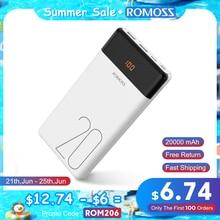 ROMOSS LT20 Power Bank 20000 mAh Tragbare Aufladen Power 20000 mAh Externe Batterie Ladegerät Poverbank für iPhone 12 Xiaomi Mi