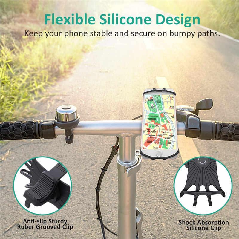 سيليكون دراجة حامل هاتف سيارة توازن مقبض دراجة ملحقات الهاتف آيفون 6 7 8 لسامسونج هواوي حامل حامل