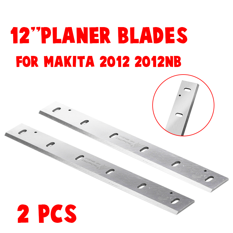 2Pcs 12'' HSS Planer Knife Blades For Makita 2012NB Wood Thicknesser Planer Woodworking Power Tool Parts