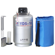 1PC Liquid Nitrogen Container  YDS-10 High Quality Cryogenic Tank Dewar with Straps 10L Laboratory Liquid Nitrogen Tank Tool