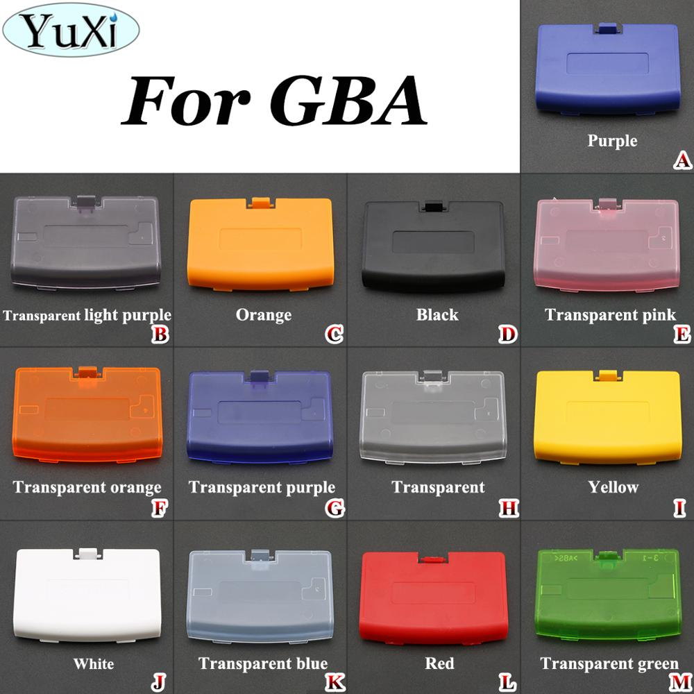 YuXi 13 видов цветов, сменная Крышка для аккумулятора, крышка для двери, оболочка для shand для Gameboy Advance для GBA, чехол для задней двери