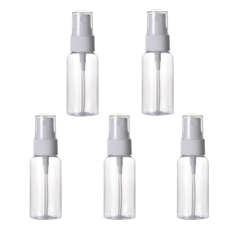 5pcs Empty Cosmetics Transparent Atomizer Liquid Spray Bottle 30ml