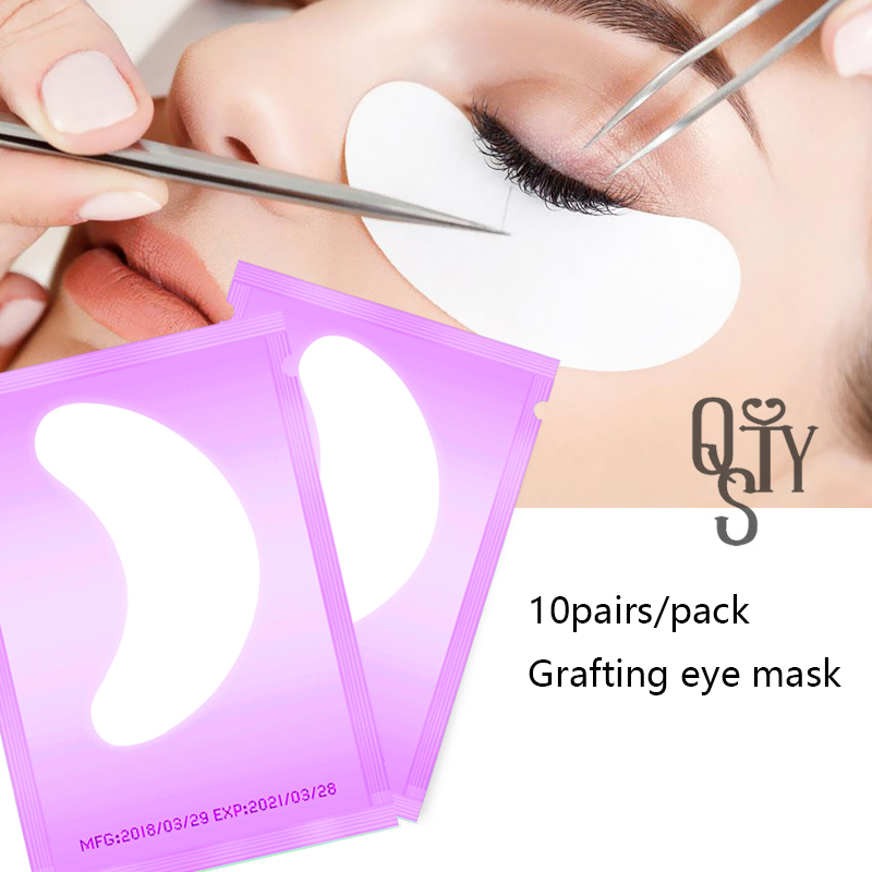 10 pairs of mascara gel patch grafting eyelashes under the eye pad lash eye stick extension paper stickers makeup tools in False Eyelashes from Beauty Health