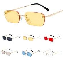 Sunglasses Men Driving-Eyewear Rectangle Rimless Hiking Small Shade Slim Designer Women