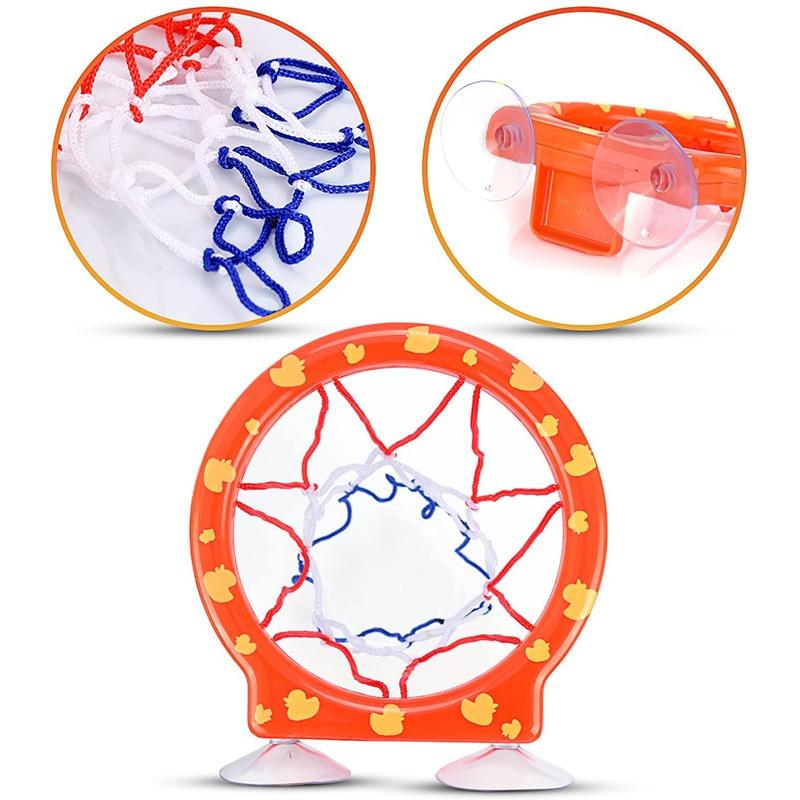 Toddler Bath Toys Kids Shooting Basket Bathtub Water Play Set for Baby Girl Boy with 3 Mini Plastic Basketballs Funny Shower 4