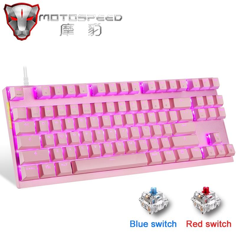 Motospeed English/Russian Gaming Mechanical Keyboard RGB LED Backlight USB Wired Laser Ergonomics Keyboard For PC Computer Gamer