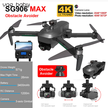 SG906 Pro MAX drone 4k profesional  Automatic Obstacle Avoidance 3-Axis Gimbal 5G WiFi GPS Drone RC Drone Kid Toy GIft 1