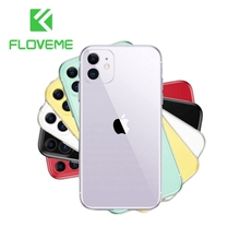 FLOVEME Transparent Case For iPhone 11 Pro Max 7 8 6 6s Plus X XS MAX Shockproof Soft Silicone TPU Cases For XR 5 5s SE 6sPlus 4