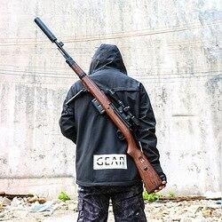 Awm crianças brinquedo arma jedi 98k pistola de água pode ser emissão manual m24 sniper rifle comer galinhas menino m416