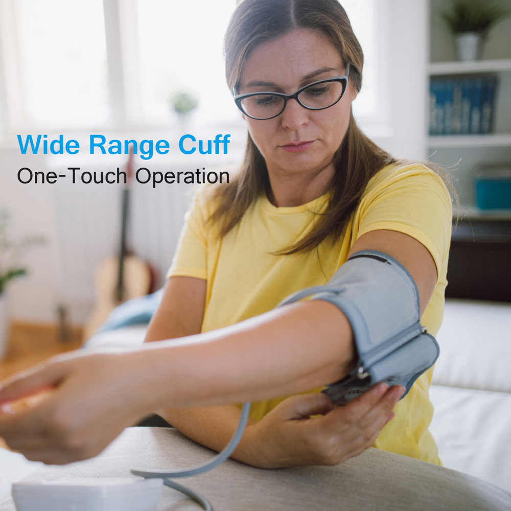 Image 4 - Home Blood Pressure Monitor Upper Arm Automatic Digital LCD Large  Cuff Blood Pressure Monitors Medical BP Heart Rate Pulse MeterBlood  Pressure