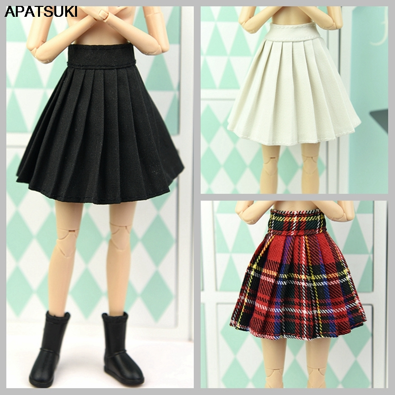 1/6 Dolls Accessories Base Doll Clothes For Barbie Doll Outfits Pleated Skirt Cosplay Students Skirts For Barbie Dollhouse