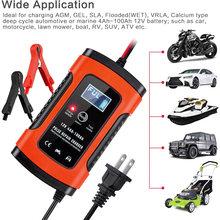 12v 6a carregador de bateria inteligente automático completo da motocicleta do carro para o auto moto chumbo ácido que carrega 6a 12v lcd digital-display