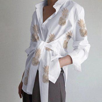 Fashion Women Long Sleeve Blouse Casual Lace Up Shirts Lapel Neck OL Asymmetric Tops Spring Blusas F
