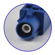 Superbat 10pcs Fakra Crimp Plug Male Connector for Blue GPS Telematics or Navigation Fakra Neutral coding for cable RG58 LMR195
