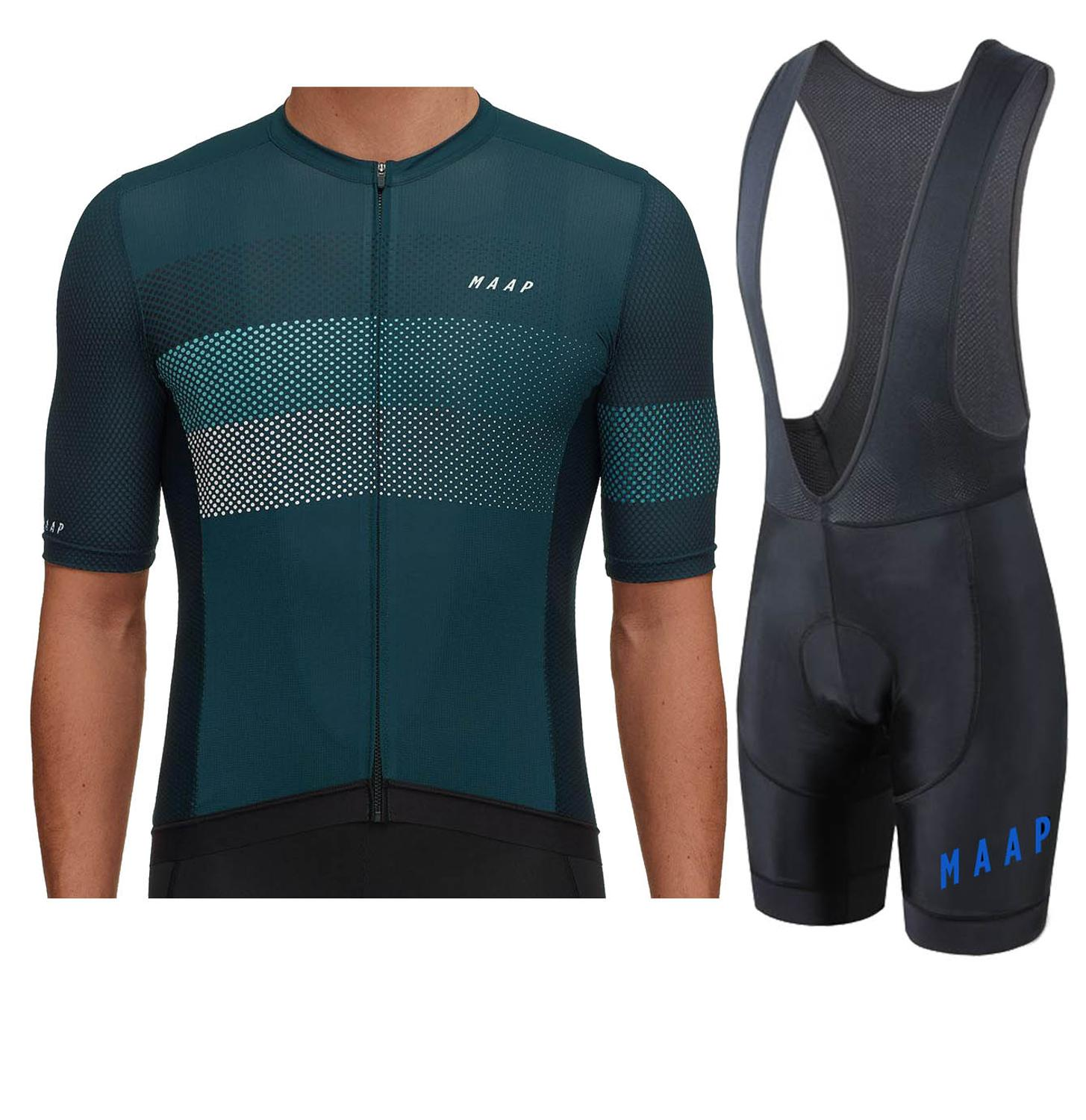 2019 New Map Pro Fit Short Sleeve Cycling Jerseys And Bib Shorrts Set High Quality Bicycle Equipment ALL NEW GEL PAD 4.0 Bib Kit