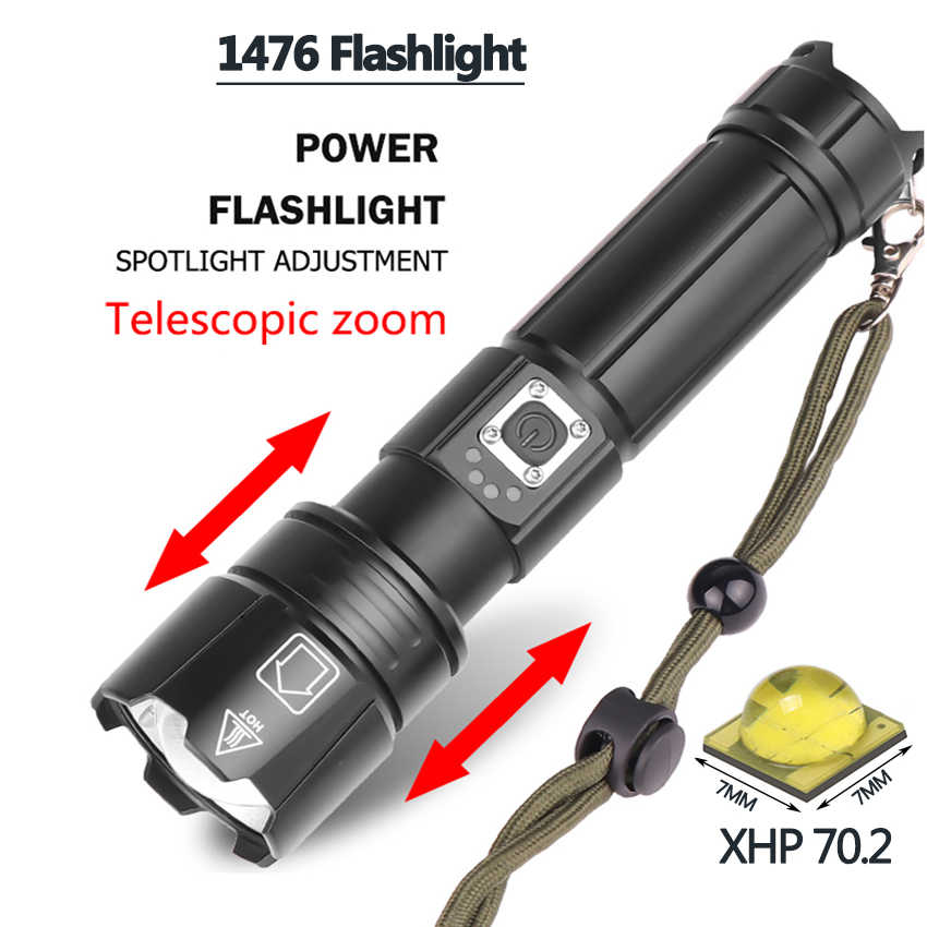 Xlámpara XHP90 Z351909 La linterna led más potente potencia 26650 o 18650 batería y xhp70.2 linterna de luz táctica Flash