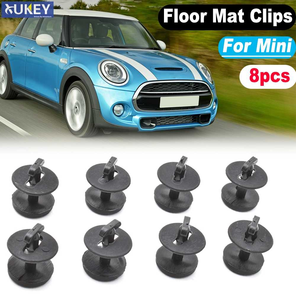 8x Car Floor Mat Clips For BMW Mini Cooper S Clubman Countryman Coupe Riadster Carpet Twist Lock Washer Resistant Fixing Clamps